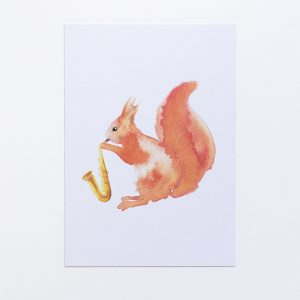 postcard squirrel eco-friendly